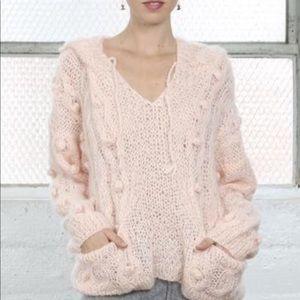 MES DEMOISELLES mohair oversized hooded sweater